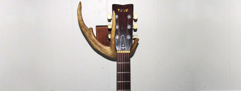 Diy Guitar Wall Mount Made With A Deer Antler