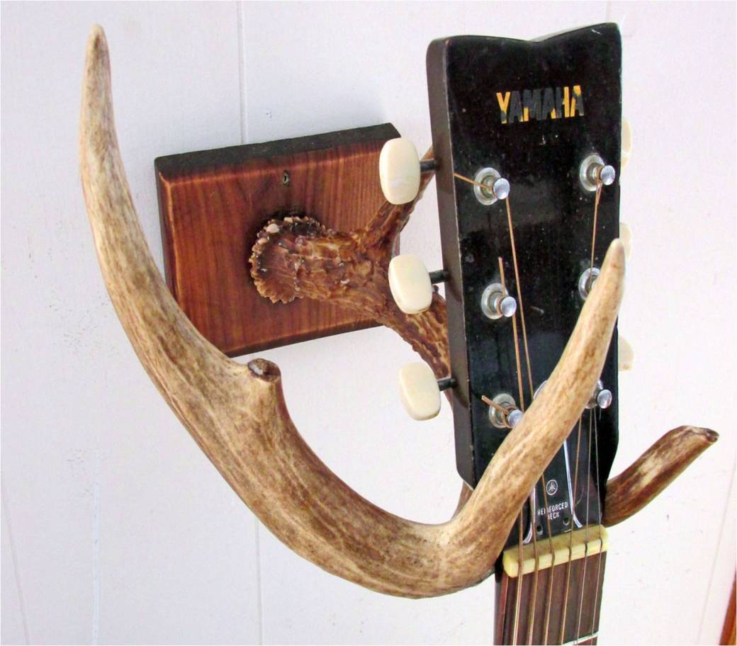 Diy Guitar Wall Mount Made With A Deer Antler
