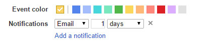 Google Calendar Color Coding and Reminders