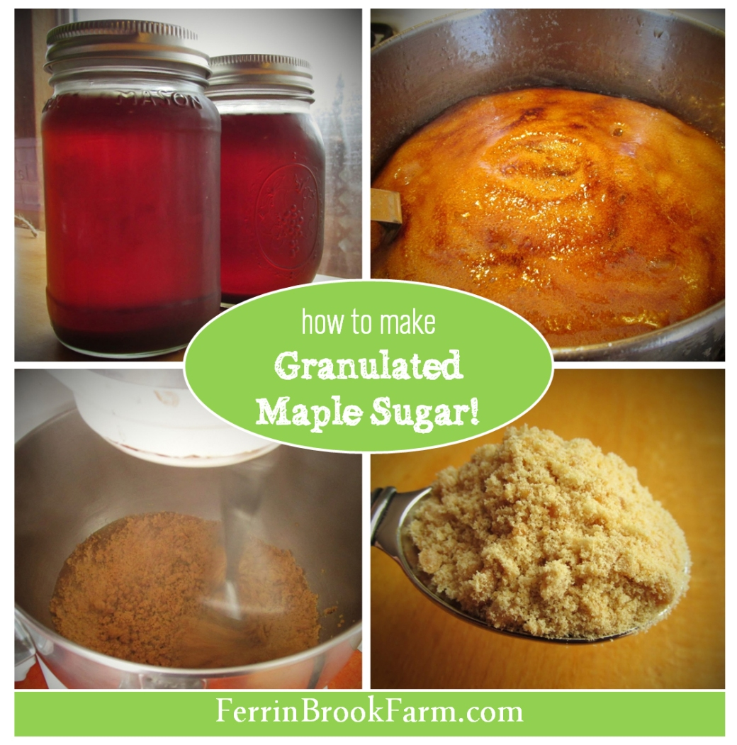how to make granulated maple sugar