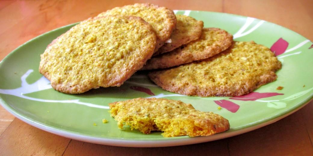 gluten free whole grain dandelion flower cookies