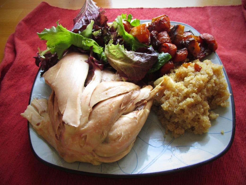 Organic Chicken Leg & Thigh dinner