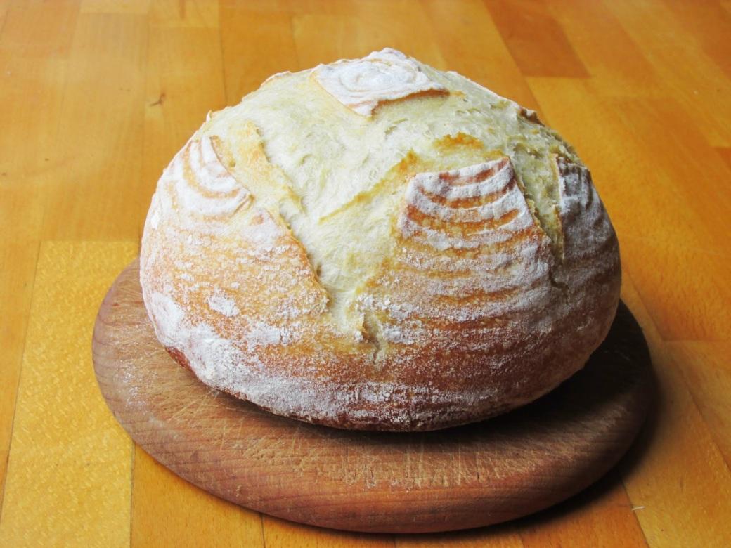 wild yeast sourdough boule bread