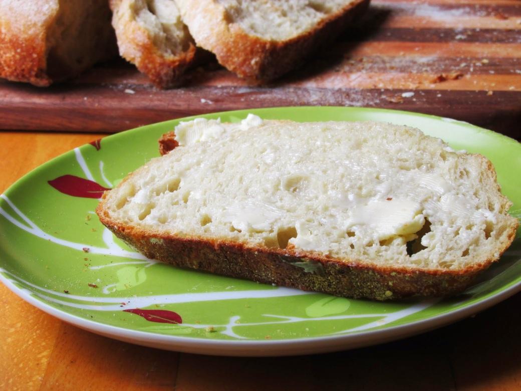 buttered sourdough