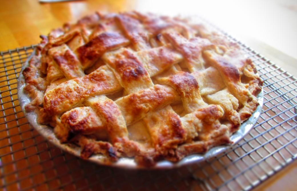 Homemade Lattice Top Apple Pie