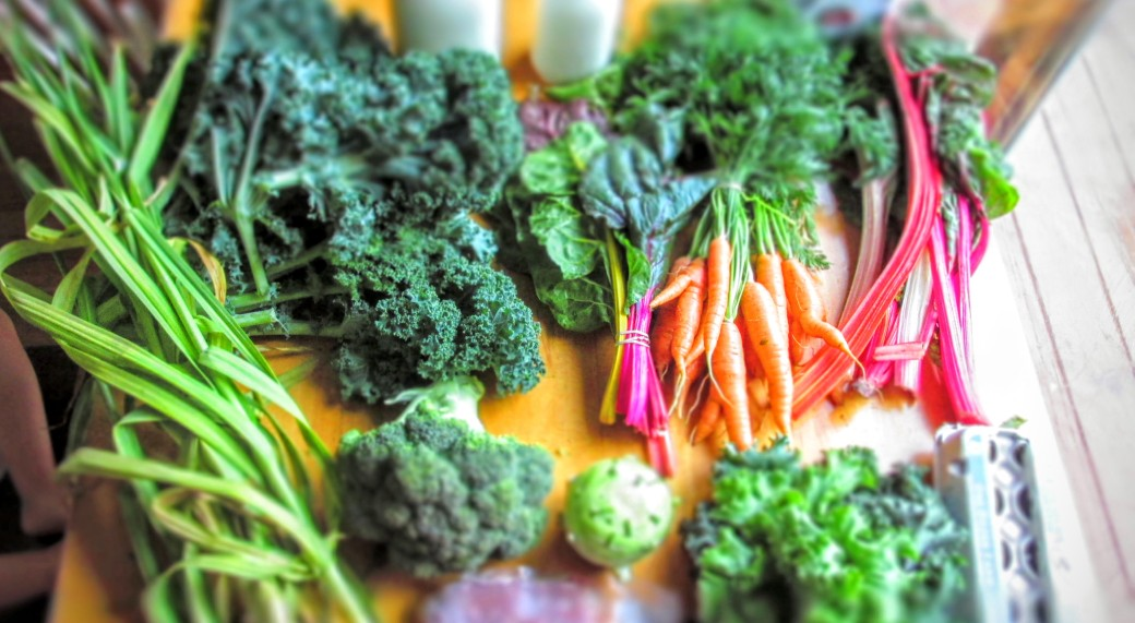 Local vegetable harvest