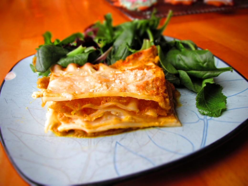 healthy high vitamin low fat squash lasagna recipe