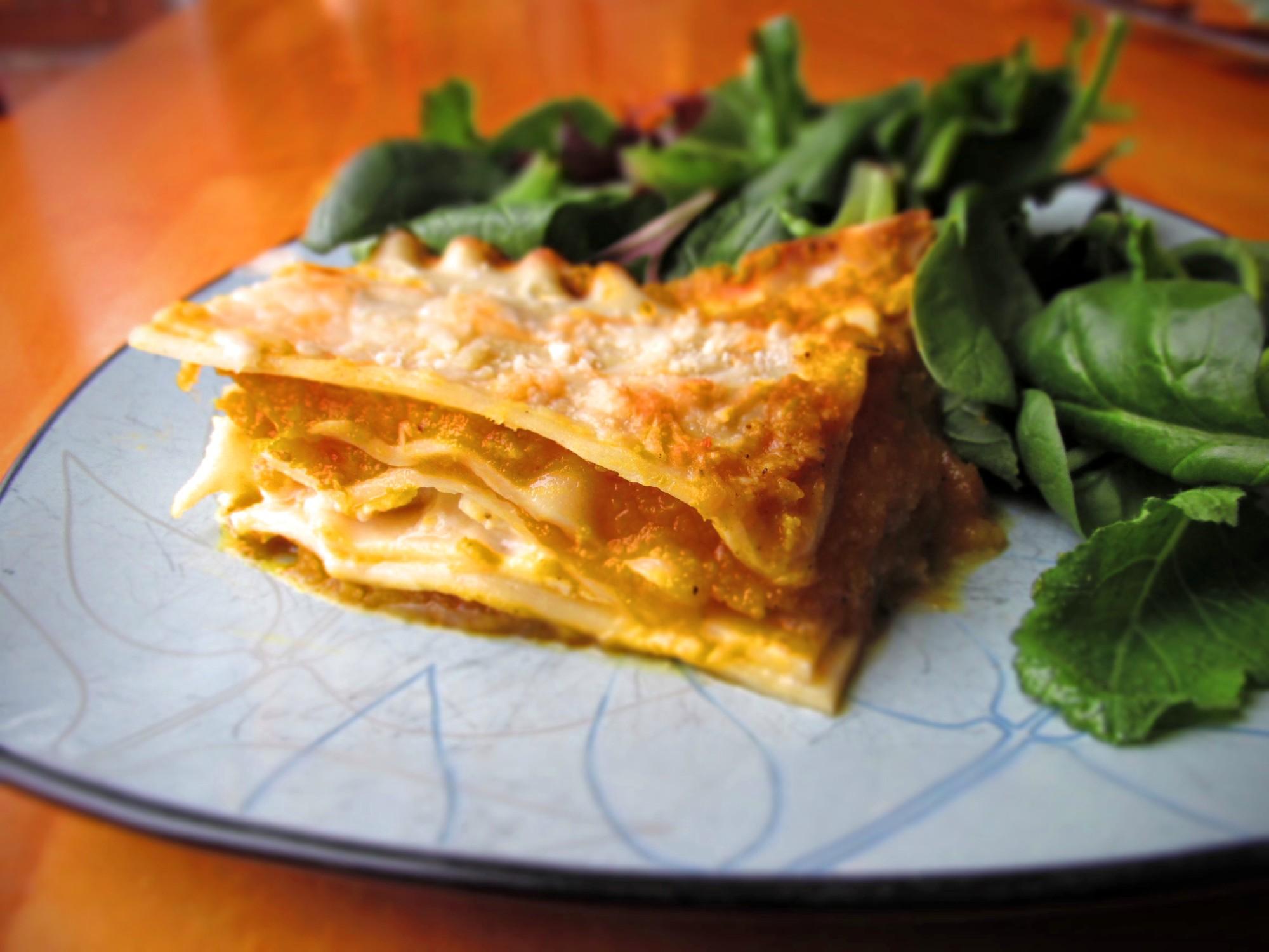 healthy winter squash lasagna recipe
