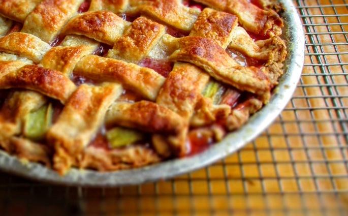 rhubarb pie with no strawberries