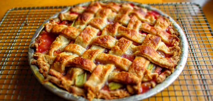 rhubarb pie without strawberries